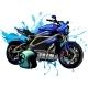 Design Vector Illustration of Motorbike with Helme - GraphicRiver Item for Sale
