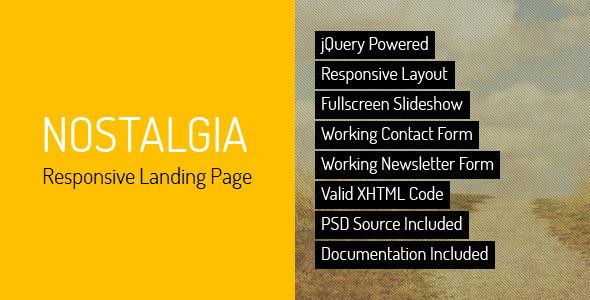 Nostalgia - Responsive Landing Page