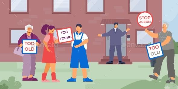 Work Ageism Discrimination Composition