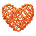 Orange heart, wicker decoration - PhotoDune Item for Sale