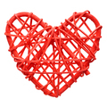 Red heart, wicker decoration - PhotoDune Item for Sale