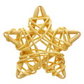 Yellow five-point star, wicker decoration - PhotoDune Item for Sale