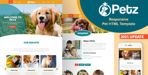 Petz - responsywny szablon HTML