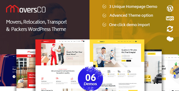 MoversCO – Movers & Packers WordPress Theme, Gobase64