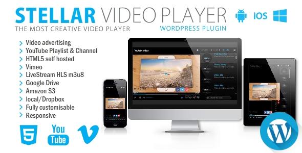 Stellar Video Player – WordPress plugin, Gobase64