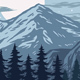 Panorama of Mountains - GraphicRiver Item for Sale