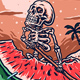 Skeleton Rides a Watermelon - GraphicRiver Item for Sale
