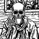 Skull Drinking Coffee - GraphicRiver Item for Sale