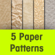 5 Paper Patterns - GraphicRiver Item for Sale