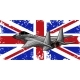 Military Fighter Jets with England Flag Vector - GraphicRiver Item for Sale