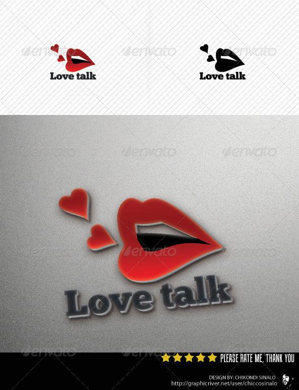Love Talk Logo Template