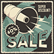 Retro Sale Discount Poster and Badge - GraphicRiver Item for Sale