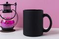 Placeit - Coffee mug mockup with black metal candle lantern - PhotoDune Item for Sale