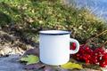 Placeit-White campfire mug mockup with fall viburnum - PhotoDune Item for Sale