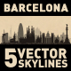 Barcelona Spain City Skyline Set - GraphicRiver Item for Sale