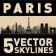 Paris France City Skyline Set - GraphicRiver Item for Sale