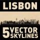 Lisbon Portugal City Skyline Set - GraphicRiver Item for Sale