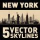 New York USA City Skyline Set - GraphicRiver Item for Sale