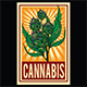 Marijuana Narcotic Cannabis Leaf Color Poster Sketch Engraving - GraphicRiver Item for Sale