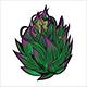Marijuana Narcotic Cannabis Leaf Color Sketch Engraving - GraphicRiver Item for Sale