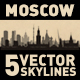 Moscow Russia City Skyline Set - GraphicRiver Item for Sale