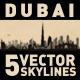 Dubai UAE City Skyline Set - GraphicRiver Item for Sale