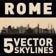 Rome Italy City Skyline Set - GraphicRiver Item for Sale