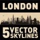London England City Skyline Set - GraphicRiver Item for Sale