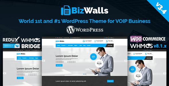 BizWalls   Responsive VOIP & Virtual Phone Business WordPress Theme
