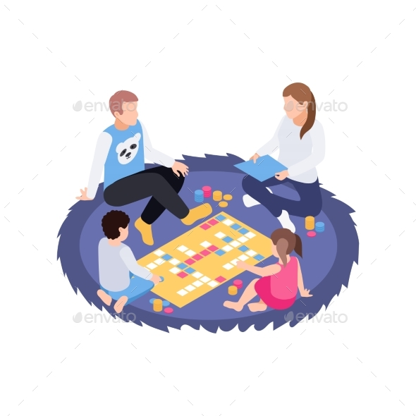 Family Board Gaming Composition