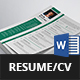 Simple Resume/CV - GraphicRiver Item for Sale