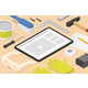 Woodworking Online Tutorial Isometric Illustration - GraphicRiver Item for Sale