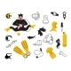 Set of Scuba Diver and Diving Equipment - GraphicRiver Item for Sale