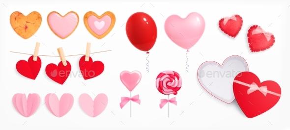 Valentines Day Accessories Set