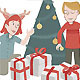 Two Children Open their Christmas Presents - GraphicRiver Item for Sale