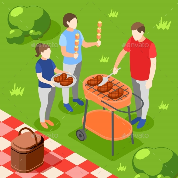 Family Cooking Background