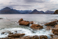 Looking out over the mountains from the rocky beach at Elgol - PhotoDune Item for Sale