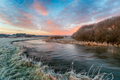 A frosty winter sunrise over the river Frome - PhotoDune Item for Sale