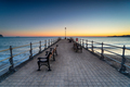 Sunrise over the Banjo Pier on the beach at Swanage - PhotoDune Item for Sale