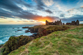 Dramatic sunset over the ruins Slains Castle - PhotoDune Item for Sale