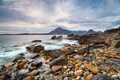 Dramatic skies and mountains from the beach at Elgol - PhotoDune Item for Sale
