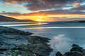 Beautiful sunset at low tide over Luskentyre beach - PhotoDune Item for Sale