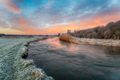 Dramatic winter sunrise over the river Frome - PhotoDune Item for Sale