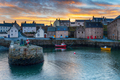 Sunset at Portsoy harbour - PhotoDune Item for Sale