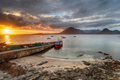 Dramatic sunset over the quay at Elgol - PhotoDune Item for Sale