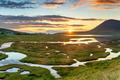 Sunset across the salt marsh at Northton - PhotoDune Item for Sale