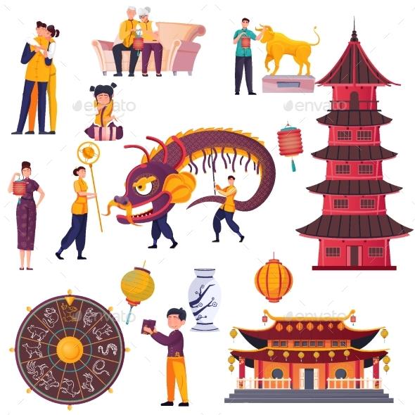 Flat Chinese New Year Set