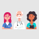 Medical Team Vector Cartoon Character - GraphicRiver Item for Sale