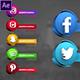 Social Media 3D Lowerthirds - VideoHive Item for Sale