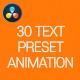 30 Text Preset